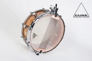 Snaredrum mit einem 20mm starken, gewickelten BuchenkesselPhoto: Cube Drums