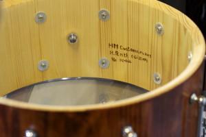 Der Kessel der HM Snare von innen.